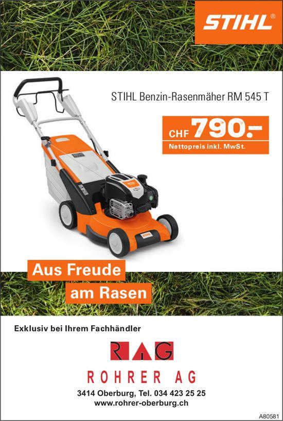 ROHRER AG, Oberburg - STIHL Benzin-Rasenmäher RM 545 T