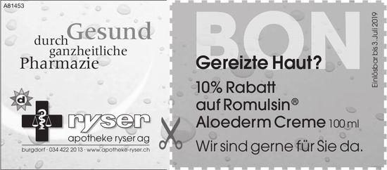 Apotheke Ryser AG, Burgdorf - Gereizte Haut?