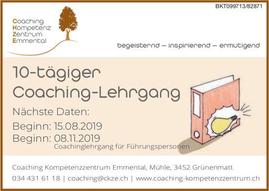10-tägiger Coaching-Lehrgang, 15. August, Coaching Kompetenzzentrum Emmental, Grünenmatt