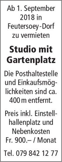 Studio mit Gartenplatz in Feutersoey-Dorf zu vermieten