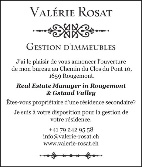 Valérie Rosat - Real Estate Manager in Rougmonet & Gstaady Valley