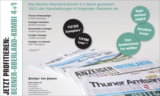 JETZT PROFITIEREN: BERNER-OBERLAND-KOMBI 4+1
