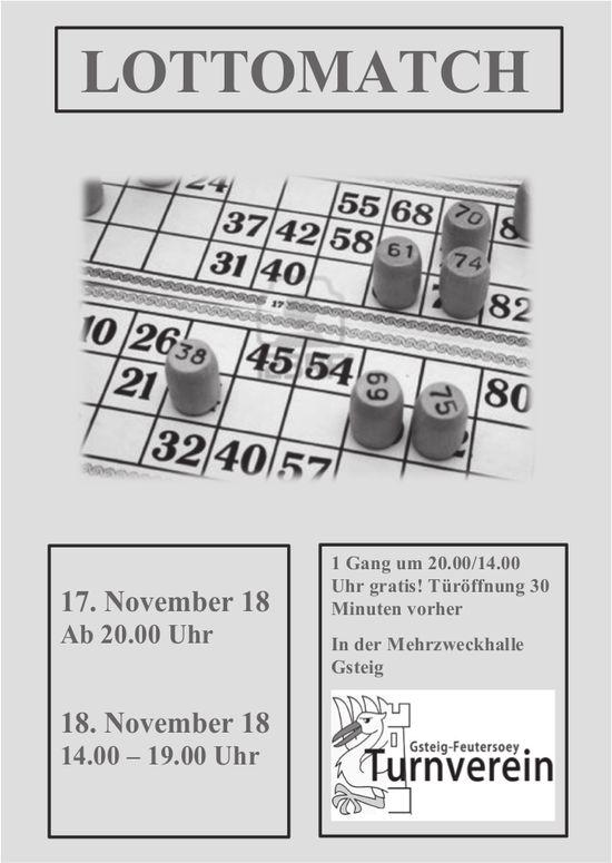 LOTTOMATCH, 17./18. November, MZH Gsteig