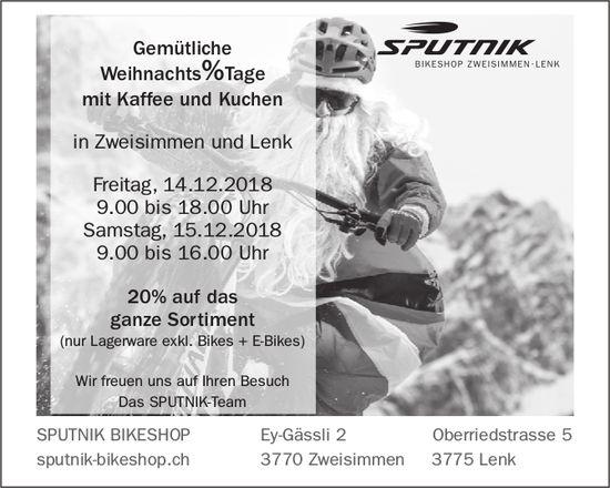Gemütliche Weihnachts%Tage mit Kaffee und Kuchen, 14./15. Dez., SPUTNIK BIKESHOP
