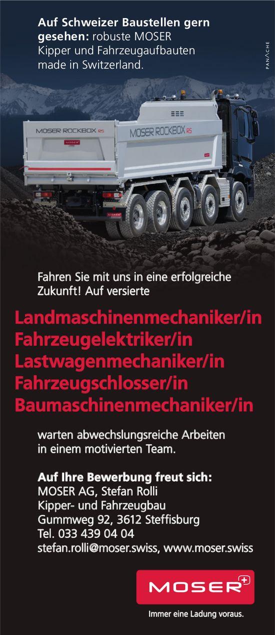 Versierte Mitarbeiter, MOSER AG, Steffisburg, gesucht