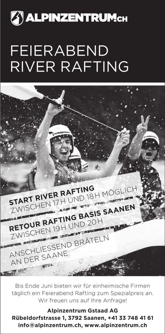 FEIERABEND RIVER RAFTING, Alpinzentrum Gstaad AG, Saanen