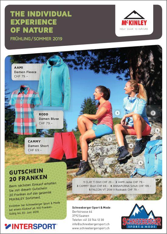 Schneeberger Sport & Mode, Saanen - THE INDIVIDUAL EXPERIENCE OF NATURE