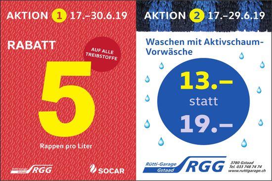 Rütti-Garage Gstaad - Aktionen