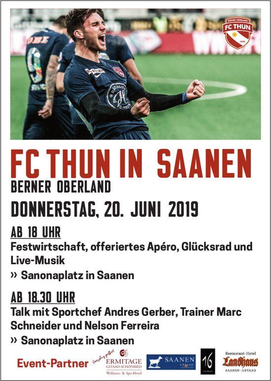 FC THUN in SAANEN, BERNER OBERLAND, 20. Juni