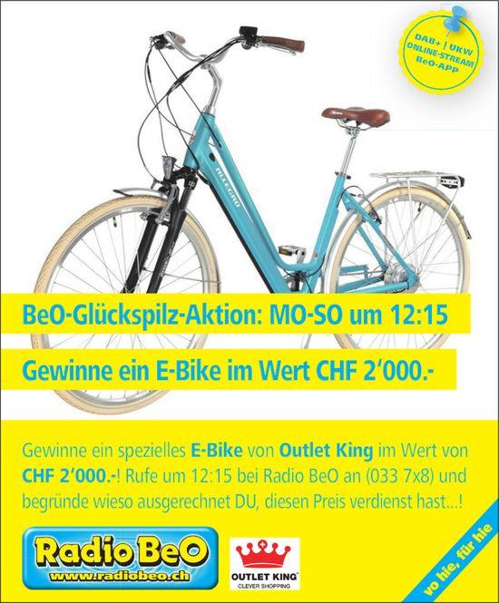 BeO-Glückspilz-Aktion - Gewinne ein E-Bike