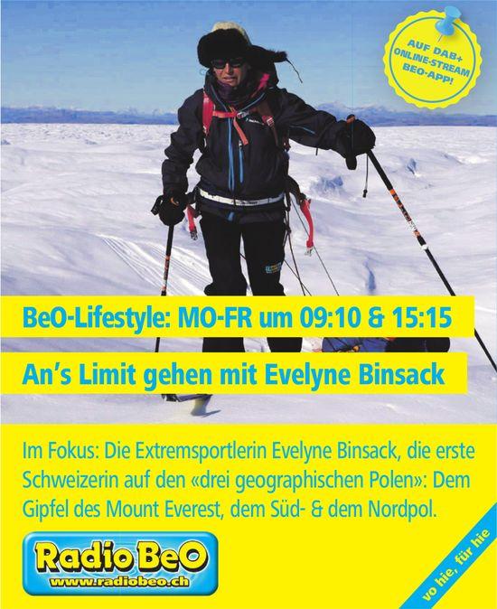 Radio BeO - BeO-Lifestyle: An's Limit gehen mit Evelyne Binsack