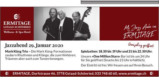 Jazzabend, 29. Januar, Wellness- und Spa-Hotel ERMITAGE, Schönried