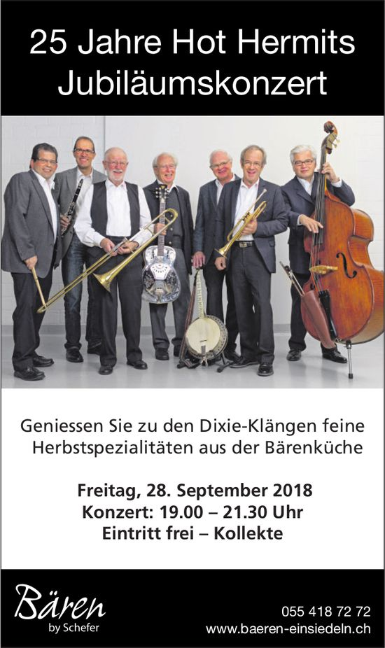 25 Jahre Hot Hermits, Jubiläumskonzert, 28. September