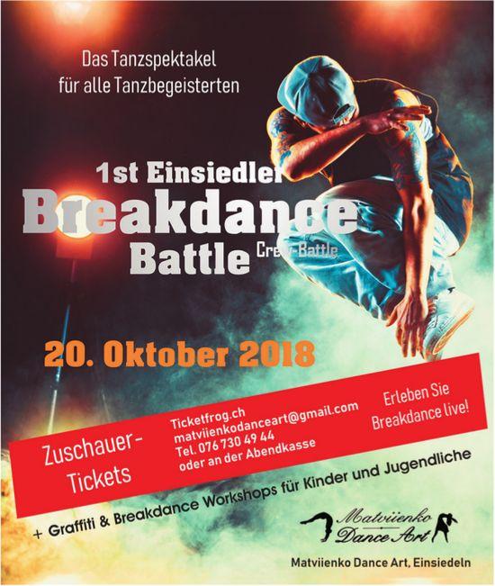 1st Einsiedler Breakdance Battle, 20. Oktober