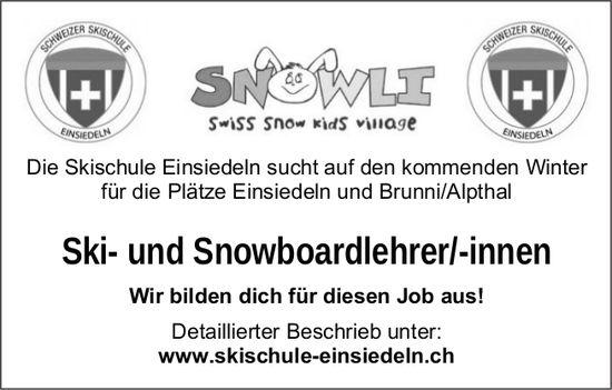 Ski- und Snowboardlehrer/-innen, Skischule Einsiedeln