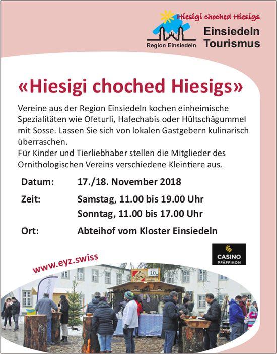 «Hiesigi choched Hiesigs», 17./18. Nov., Abteihof vom Kloster Einsiedeln