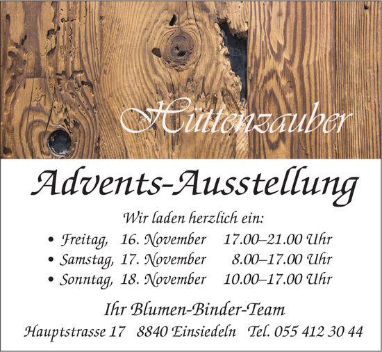 Hüttenzauber Advents-Ausstellung, 16./17./18. Nov., Blumen Binder