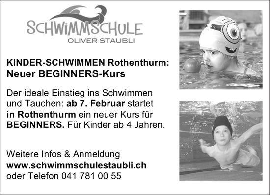 Kinder-Schwimmen Rothenthurm - Neuer Beginner-Kurs, ab 7. Feb.