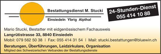 24-Stunden-Dienst, Bestattungsdienst M. Stucki