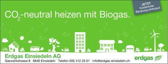 CO₂-neutral heizen mit Biogas, Erdgas Einsiedeln AG