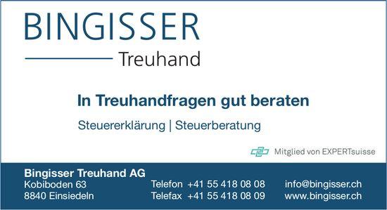 In Treuhandfragen gut beraten, Bingisser Treuhand AG