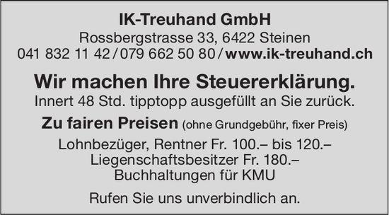 Wir machen Ihre Steuererklärung, IK-Treuhand GmbH