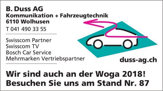 B. Duss AG, Wolhusen - Wir sind auch an der Woga 2018!