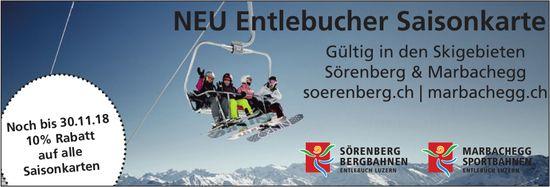 NEU Entlebucher Saisonkarte - Gültig in den Skigebieten Sörenberg & Marbachegg