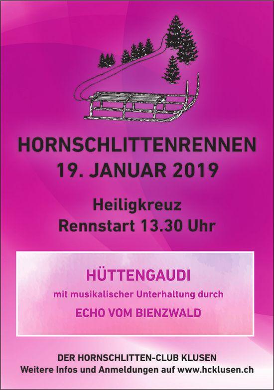 HORNSCHLITTENRENNEN 19. JANUAR, Heiligkreuz