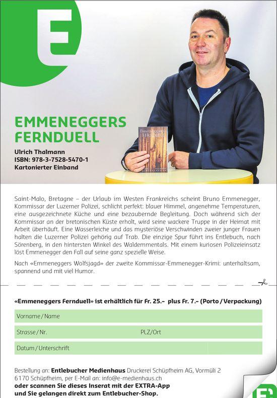 EMMENEGGERS FERNDUELL - Kartonierter Einband