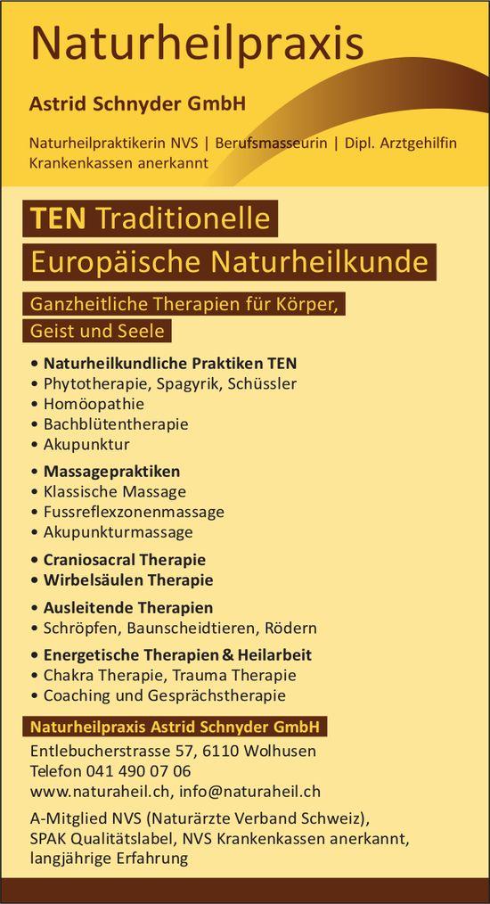 Naturheilpraxis Astrid Schnyder GmbH, Wolhusen - TEN, Traditionelle Europäische Naturheilkunde
