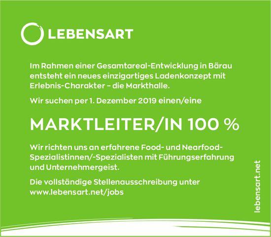 MARKTLEITER/IN 100 %, Stiftung Lebensart, Bärau, gesucht