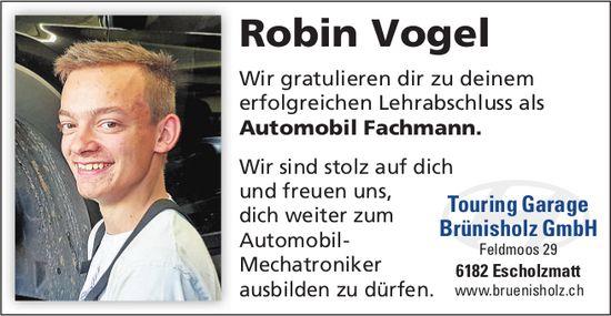 Robin Vogel - Wir gratulieren dir zu deinem erfolgreichen Lehrabschluss ...
