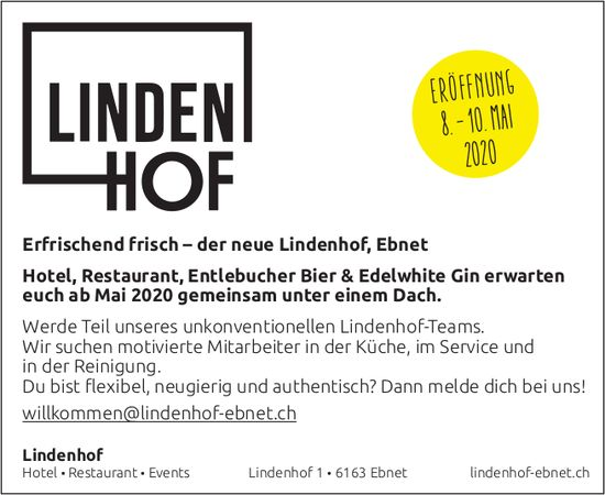 Eröffnung, 8. - 10. Mai, Hotel Restaurant Lindenhof, Ebnet