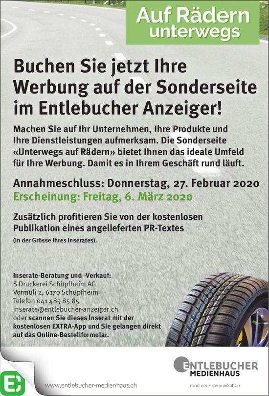 Schüpfheim, Buchen Sie jetzt Ihre Werbung auf der Sonderseite im Entlebucher Anzeiger!