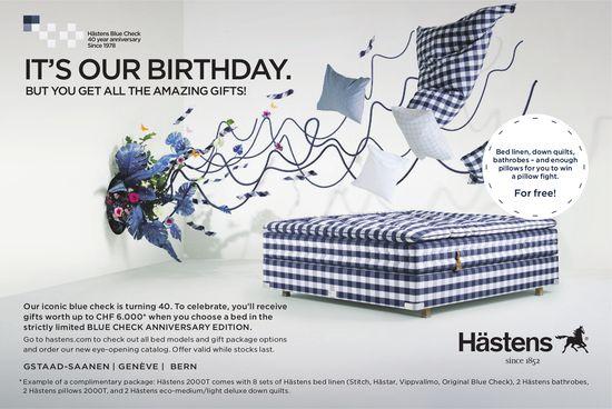 It's our birthday, Hästens