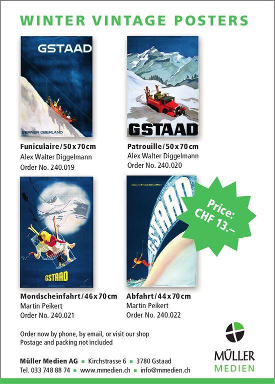 Winter Vintage Posters, Müller Medien AG