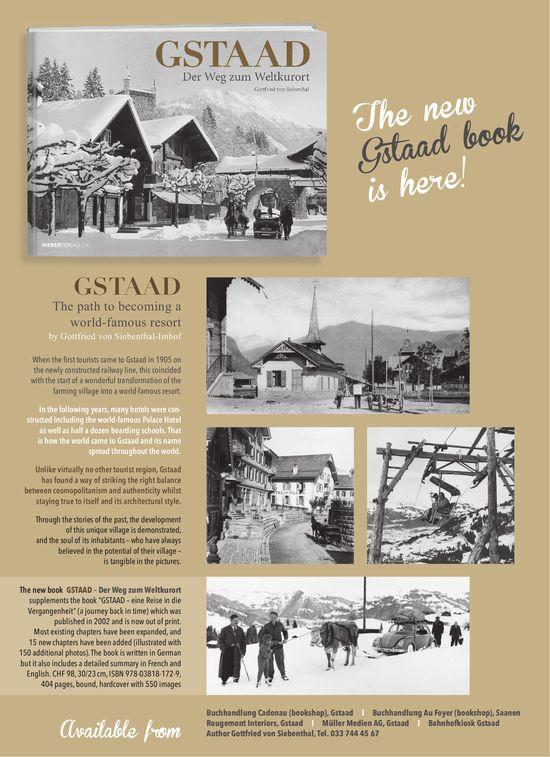 The new Gstaad book is here! Gstaad - Der Weg zum Weltkurort