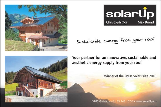 Sustainable energy from your roof, solarUp