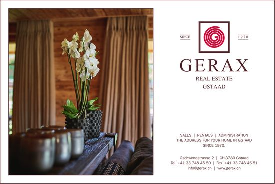 GERAX, REAL ESTATE, GSTAAD