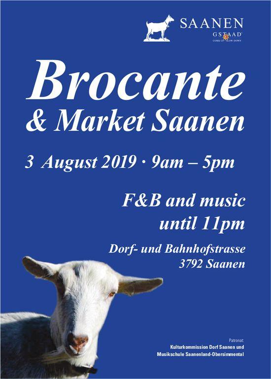 Brocante & Market Saanen, 3 August, Saanen