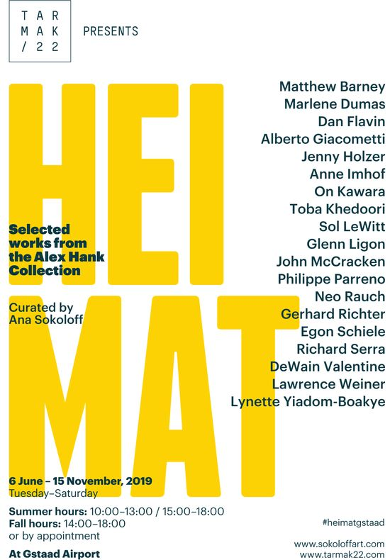 HEIMAT - Selected works from the Alex Hank Collection, 6 June - 15 November, Gstaad Airport