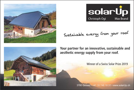 SolarUp, Gstaad - Sustainable energy from your roof