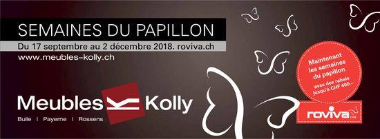 Meubles Kolly, Bulle, Semaine du papillon du 17 septembre au 2 décembre