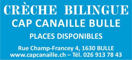 CRÈCHE BILINGUE, CAP CANAILLE BULLE, PLACES DISPONIBLES