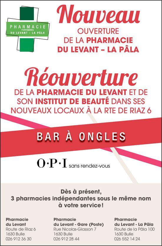 Réouverture de la pharmacie du Levant, Riaz