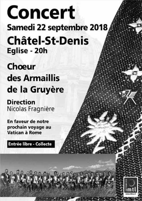 Concert, 22 septembre, Eglise, Châtel-St-Denis