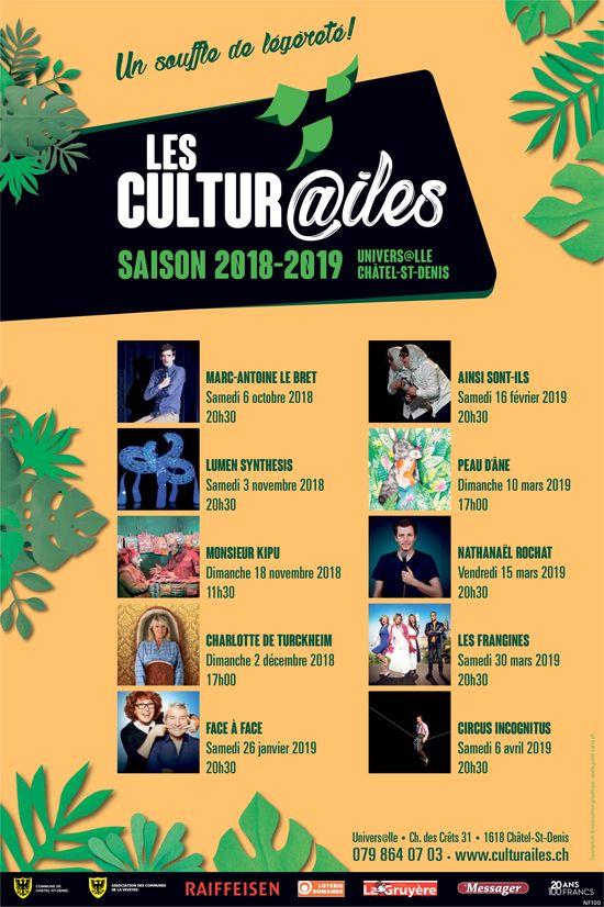 LES CULTURE@ILES, CHÂTEL-ST-DENIS, SAISON 2018-2019