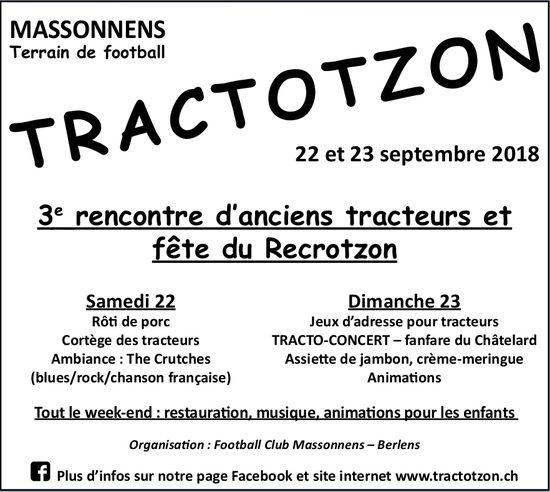 TRACTOTZON, 22 et 23 septembre, Terrain de football, Massonnens