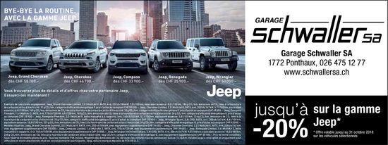 Garage Schwaller SA, Ponthaux, jusqu'à sur la gamme -20% Jeep